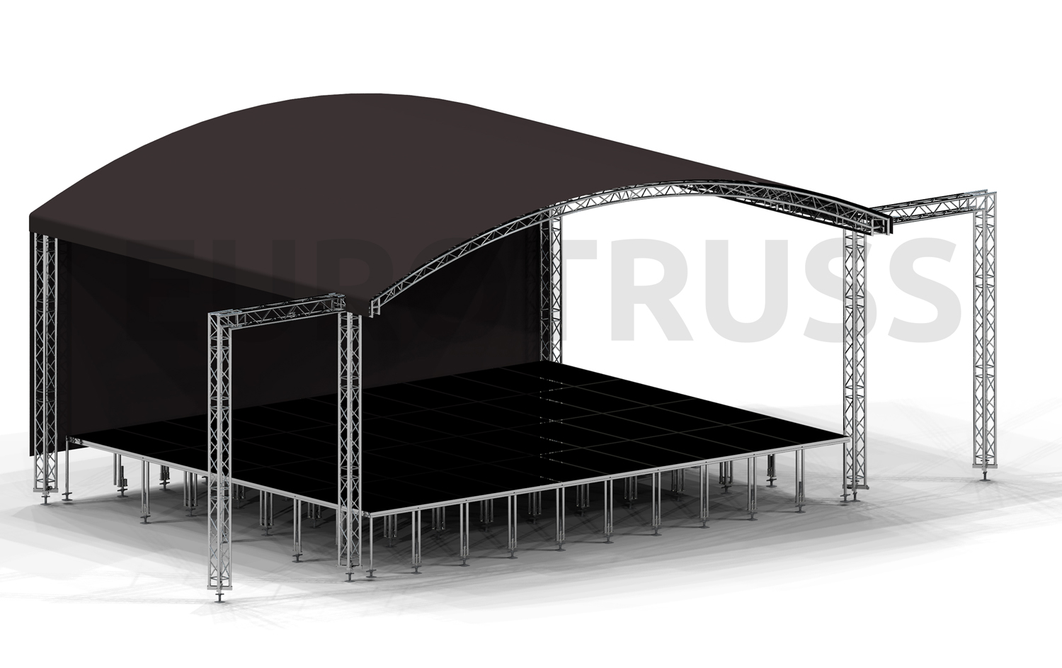 Ar 10 Arc Roof 10x8 Small In Transport Eurotruss