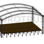 AR-10 Eurotruss Arc Roof 10x8m