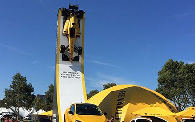 Renault F1 Race Car vertical Rigged At the Australian Grand Prix